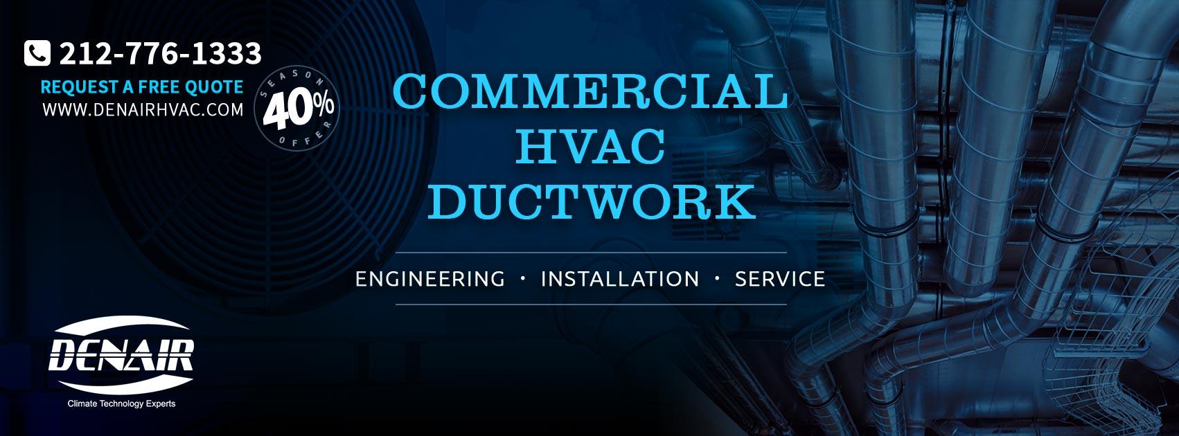 hight resolution of denair hvac equipment installation air conditioning company ductwork