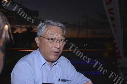 Toyota Tsusho South Pacific Holdings Pty Ltd managing director Yoshiaki Kato in Nadi yesterday. Picture: BALJEET SINGH