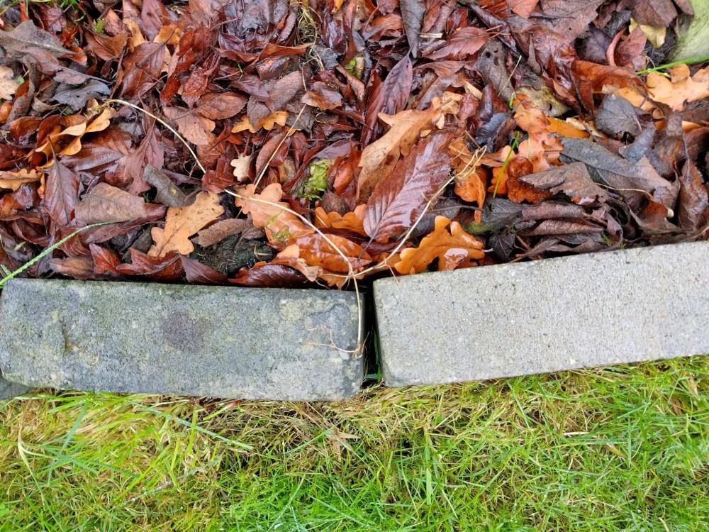 mulchen met bladeren