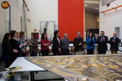 Presentación del manto de la virgen de los Ángeles (Los Negritos) restaurado por el IAPH. Marzo 2017 | José Carlos B. Casquet
