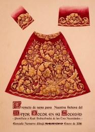 Diseño de la nueva saya para la virgen del Mayor Dolor de la Carretería   Gonzalo Navarro Ambrojo