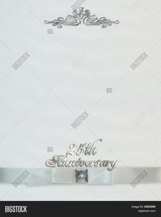 25Th Wedding Anniversary Invitations 25th Wedding Image Photo Free Trial Bigstock
