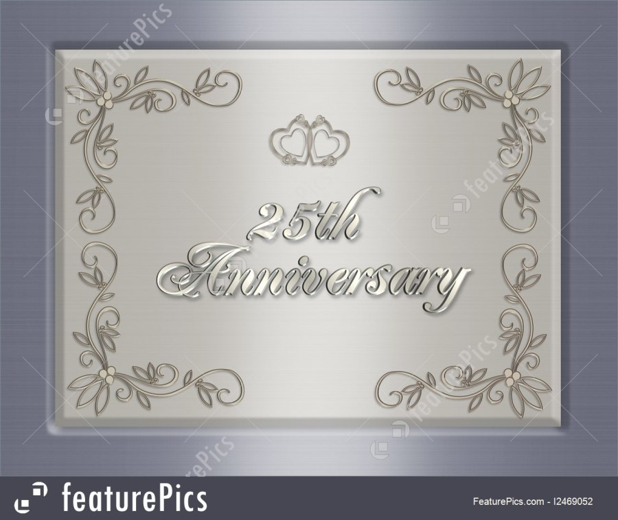 25Th Wedding Anniversary Invitations Cards And Posters 25th Wedding Anniversary Invitation Stock