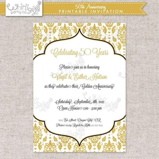 50Th Wedding Anniversary Invitation Wording 50th Wedding Anniversary Invitations Free Templates Awesome 46
