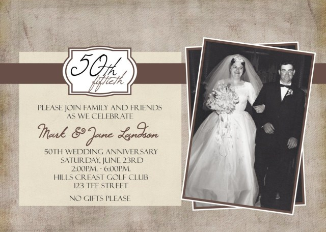 50th Wedding Invitation Templates: 30+ Beautiful Picture Of 50Th Wedding Anniversary