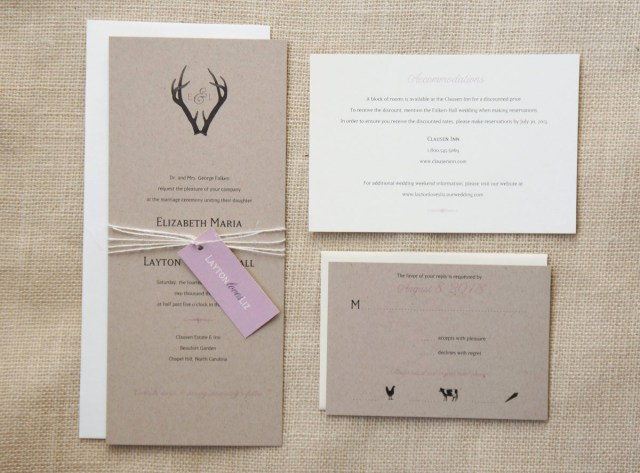 Antler Wedding Invitations Antler Wedding Invitations Sample Monogram Antlers Wedding