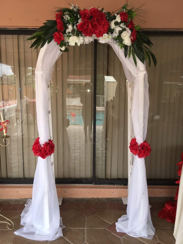 Arch Decorations For Weddings Decorated Wedding Arch Frame Happy Party Event Rentals
