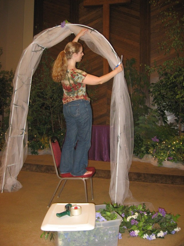 Arch Decorations For Weddings Wedding Arch Decorated With Tulle Wedding Decoration Ideas Gallery