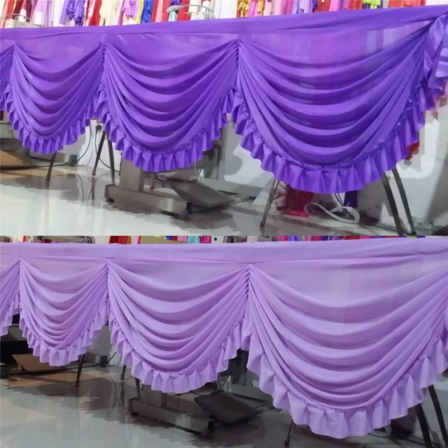 Backdrop Decoration For Wedding 2019 Cheap Price Wedding Party Backdrop Decoration Curtain Swag