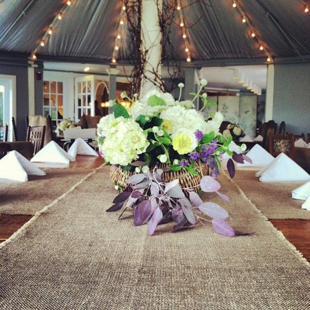 Barn Wedding Decor Burlap Table Runner 144 Long Select Your Width Rustic Wedding