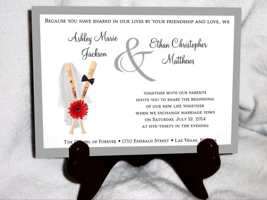 Baseball Wedding Invitations Baseball Wedding Invitations Rsvps Reception Insert W Free