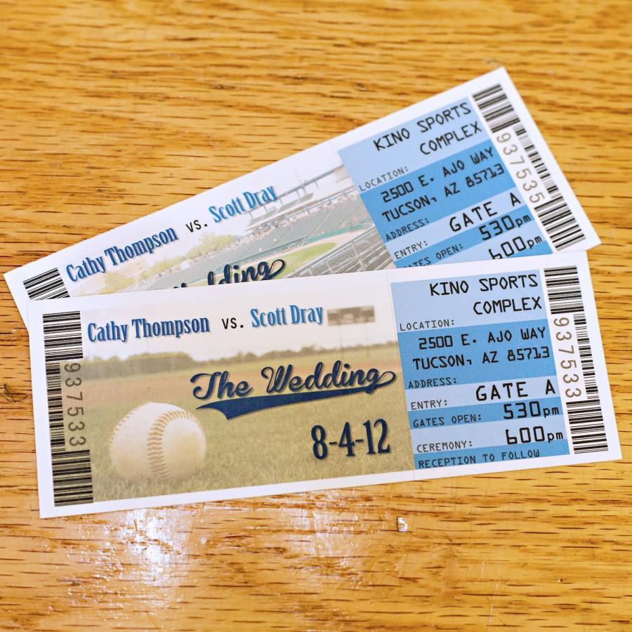 Baseball Wedding Invitations Baseball Wedding Tickets For Invitations 100 Tickets Football