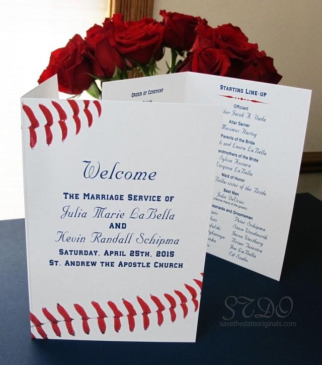 Baseball Wedding Invitations Save The Date Originals Baseball Wedding Themed Program Sports