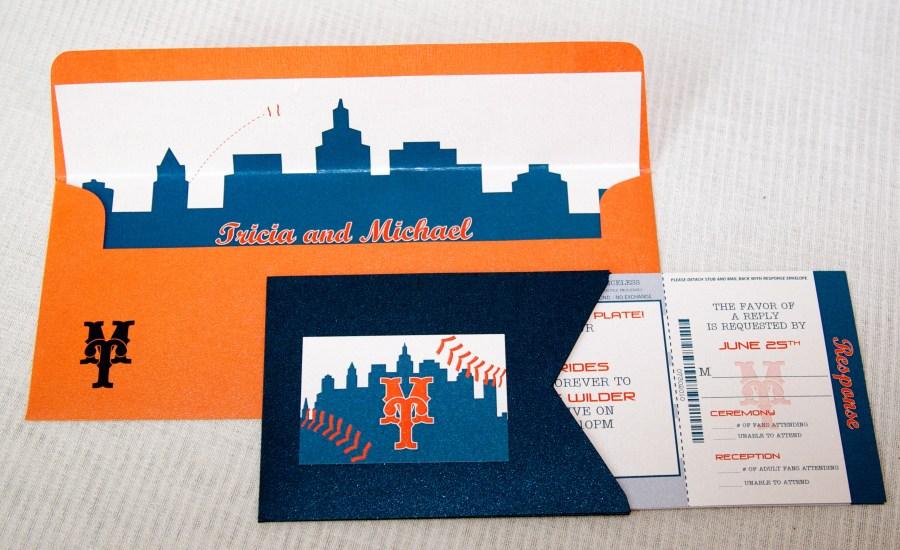 Baseball Wedding Invitations Wedding Invitations Baseball Ticket Inspired Lepenn Designs