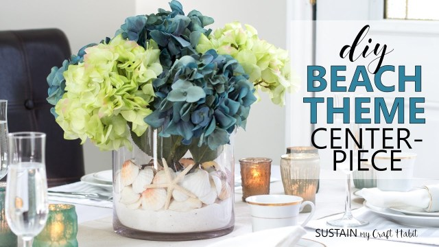 Beach Wedding Reception Decorations Diy Beach Theme Centerpiece Coastal Wedding Bridal Shower Decor