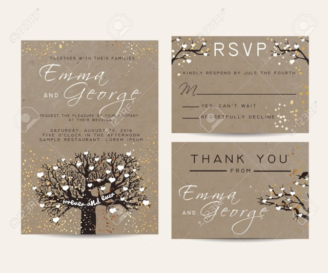 Beautiful Wedding Invitations Beautiful Wedding Invitation Set On Paper Decorated With Fairy
