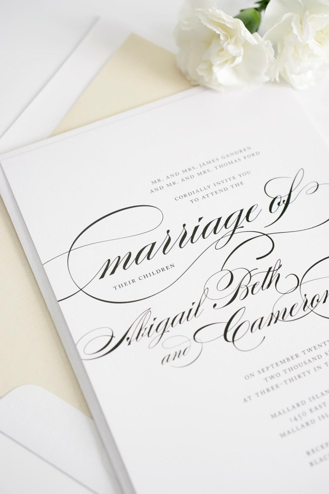 Beautiful Wedding Invitations Beautiful Wedding Invitations With Swirls And Swashes Invitations
