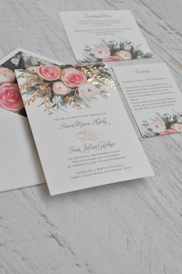 Beautiful Wedding Invitations Ethereal Garden Foil Invitation Wedding Pinterest Wedding