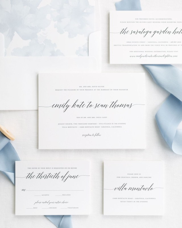 Beautiful Wedding Invitations Polished And Pretty Wedding Invitations With Silk Ribbon Wedding