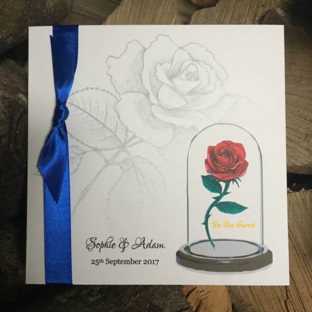 Beauty And The Beast Wedding Invitations Beauty And The Beast Wedding Invitation Disney Wedding Ebay
