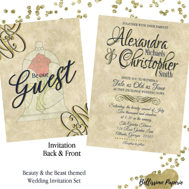 Beauty And The Beast Wedding Invitations Beauty And The Beast Wedding Invitations Beautiful Beauty And The