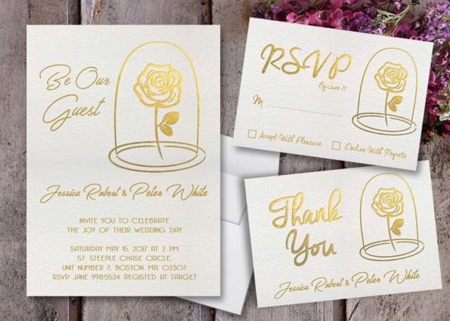 Beauty And The Beast Wedding Invitations Beauty And The Beast Wedding Invitations Beauty And The Etsy