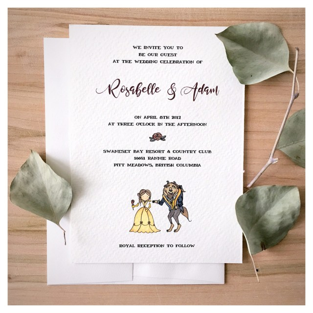 Beauty And The Beast Wedding Invitations Sample Enchanted Wedding Invitation Set Beauty And The Beast