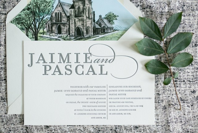 Bilingual Wedding Invitations Bilingual Wedding Invitations With A Beautiful Illustrated Envelope