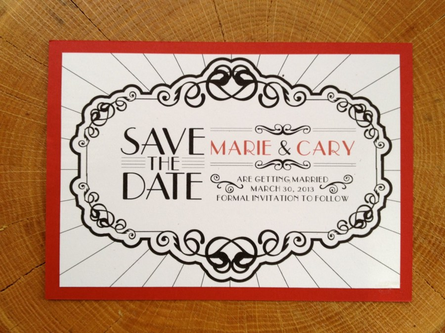 Black And Red Wedding Invitations 1920s Wedding Invitations Best Of Save The Date Art Deco Old