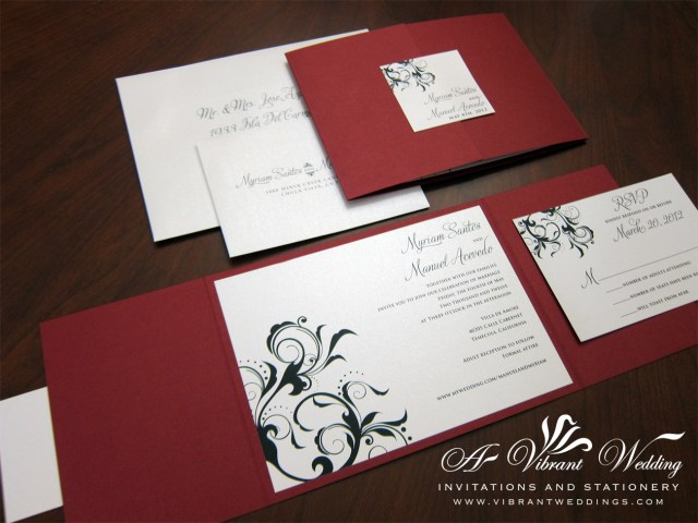 Black And Red Wedding Invitations Black And Red Wedding Invitations Black And Red Wedding Invitations
