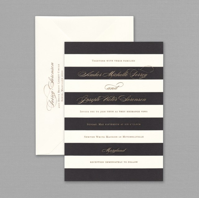 Black And White Striped Wedding Invitations Black And White Striped Wedding Invitations Black And White Striped