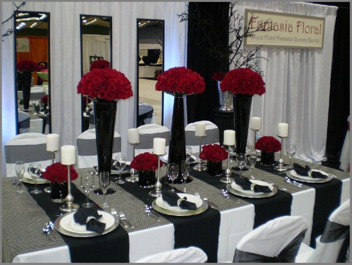 Black And White Wedding Decor Amazing Wedding Decoration Ideas Red And Black Set Home Design Ideas