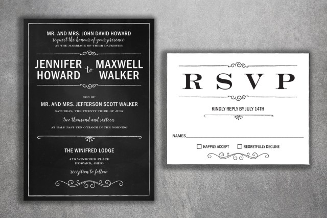 Black And White Wedding Invitations Chalkboard Wedding Invitation Wedding Invitation Blackboard