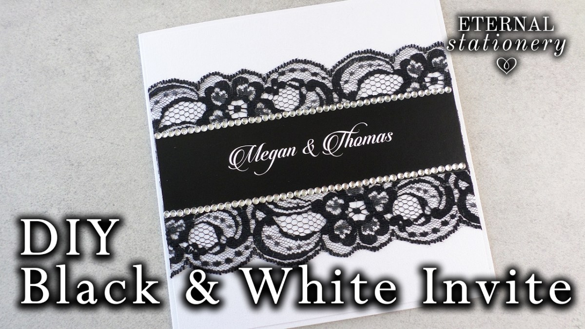 Black And White Wedding Invitations How To Make An Easy Black And White Invitation Diy Wedding