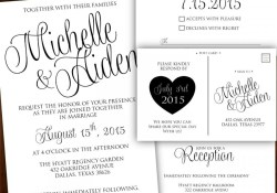 Black And White Wedding Invitations Printable Wedding Invitation Calligraphy Wedding Invitation