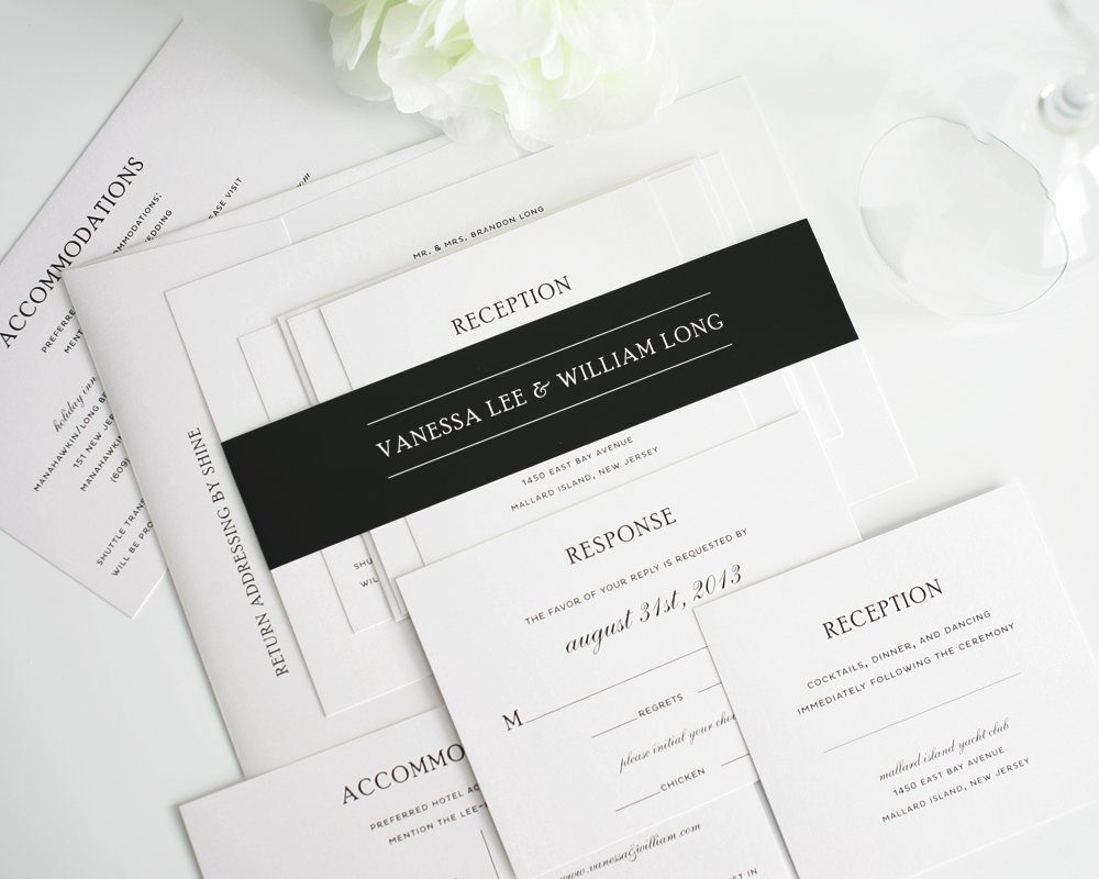 Black And White Wedding Invitations Traditional Wedding Invitations In Black And White Wedding Invitations