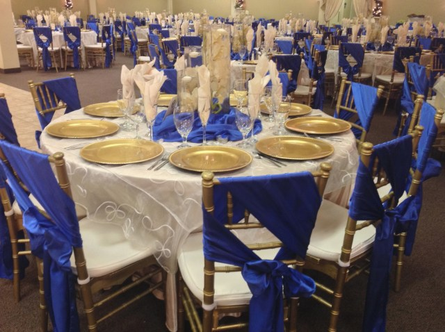 Blue And Gold Wedding Decorations Blue Gold Wedding Theme Blue And Gold Wedding Decorations