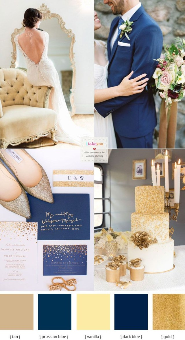 Blue And Gold Wedding Decorations Blue Gold Wedding Theme Opulent Blue And Gold Wedding Theme Weddin
