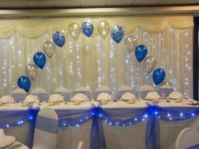 Blue And Gold Wedding Decorations Decorations Royal Blue Gold And White Wedding Decorations Table