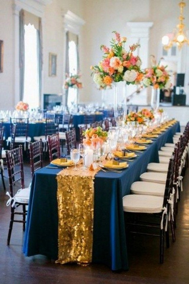 Blue And Gold Wedding Decorations Easy Navy Blue And Gold Wedding Decorations Wedding Ideas