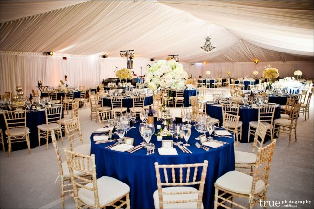 Blue And Gold Wedding Decorations Royal Blue Gold And White Wedding