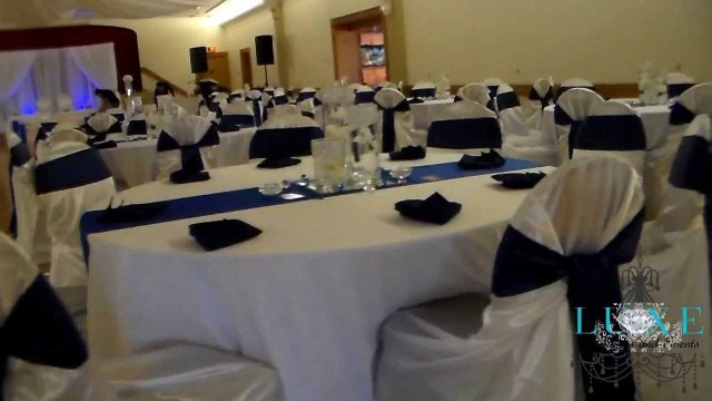 Blue And White Wedding Decor Ideas 2013 Royal Blue Wedding Decor Luxe Weddings And Events Youtube
