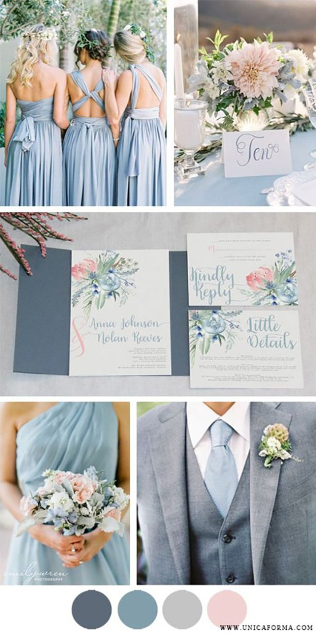 Blue And White Wedding Decor Ideas Grey Wedding Theme Wedding Ideas Colour Chwv