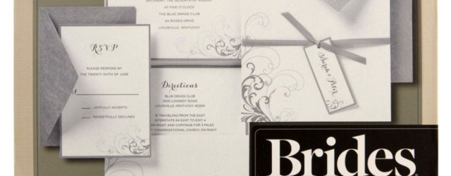 Brides Wedding Invitation Kits Brides Silver And White Pocket Invitation Kit Michaels Weddings
