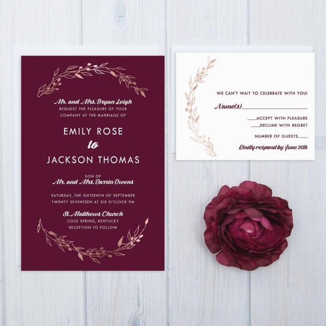 Burgundy Wedding Invitations Invitation Burgundy Wedding Invitations 2713154 Weddbook