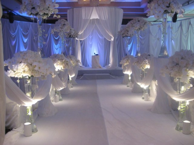 Candle Decorations For Wedding Ceremony Decorations Wedding Party Table Ideas White Romantic Theme