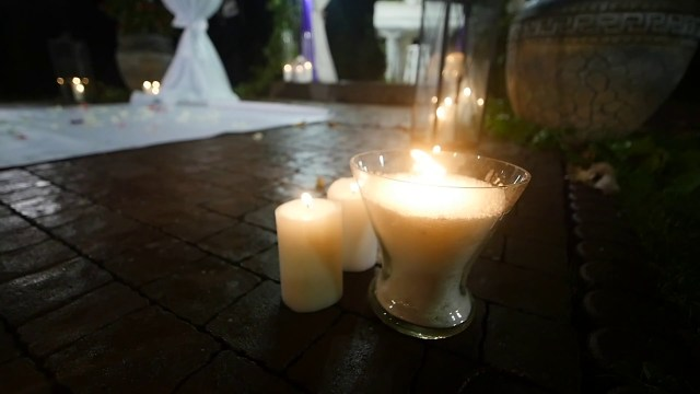 Candle Decorations For Wedding Ceremony Wedding Decorations In Rustic Style Candles In Bottles And Glass