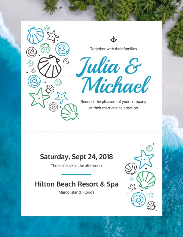 Cheap Beach Wedding Invitations Beach Kraft Paper Wedding Invitation Palm Trees Isl On Beach Wedding