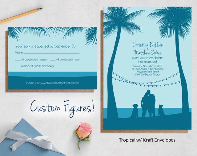 Cheap Beach Wedding Invitations Beach Wedding Invitation Packages Wedding Party Decoration