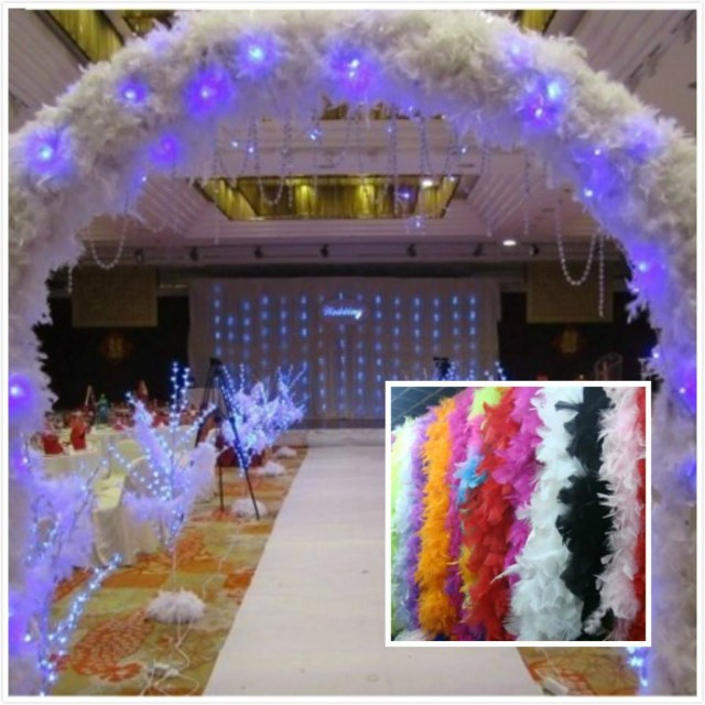 Cheap Wedding Decoration Wholesale Feather Wedding Decorations 2m Long Boa Fluffy Craft